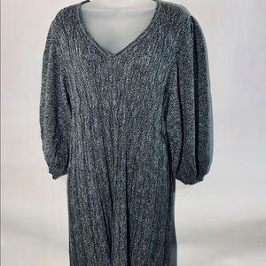 Max Studio Sweater Dress Fit & Flare Pleated Skirt